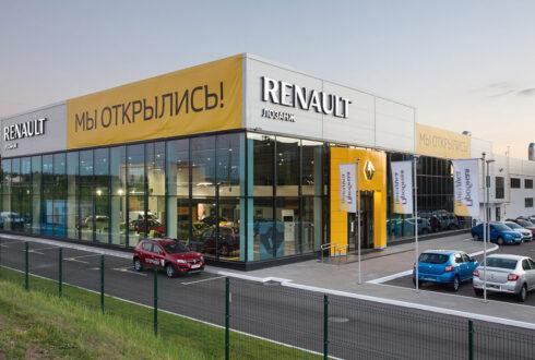 Комплекс обслуживания легкового автотранспорта Renault, г.Минск